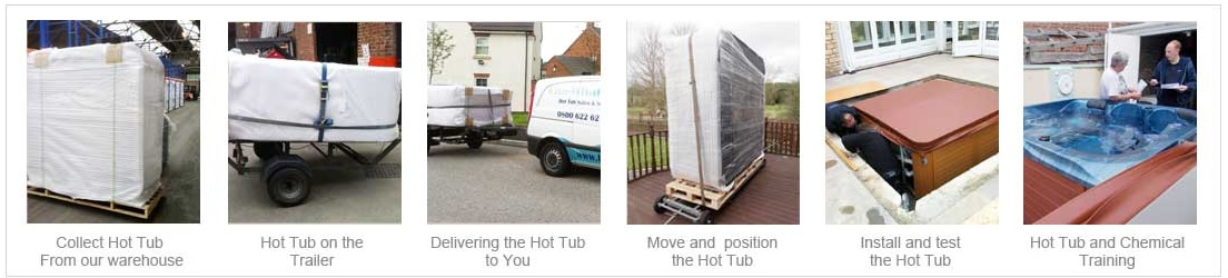 Hot tub delivery and commission
