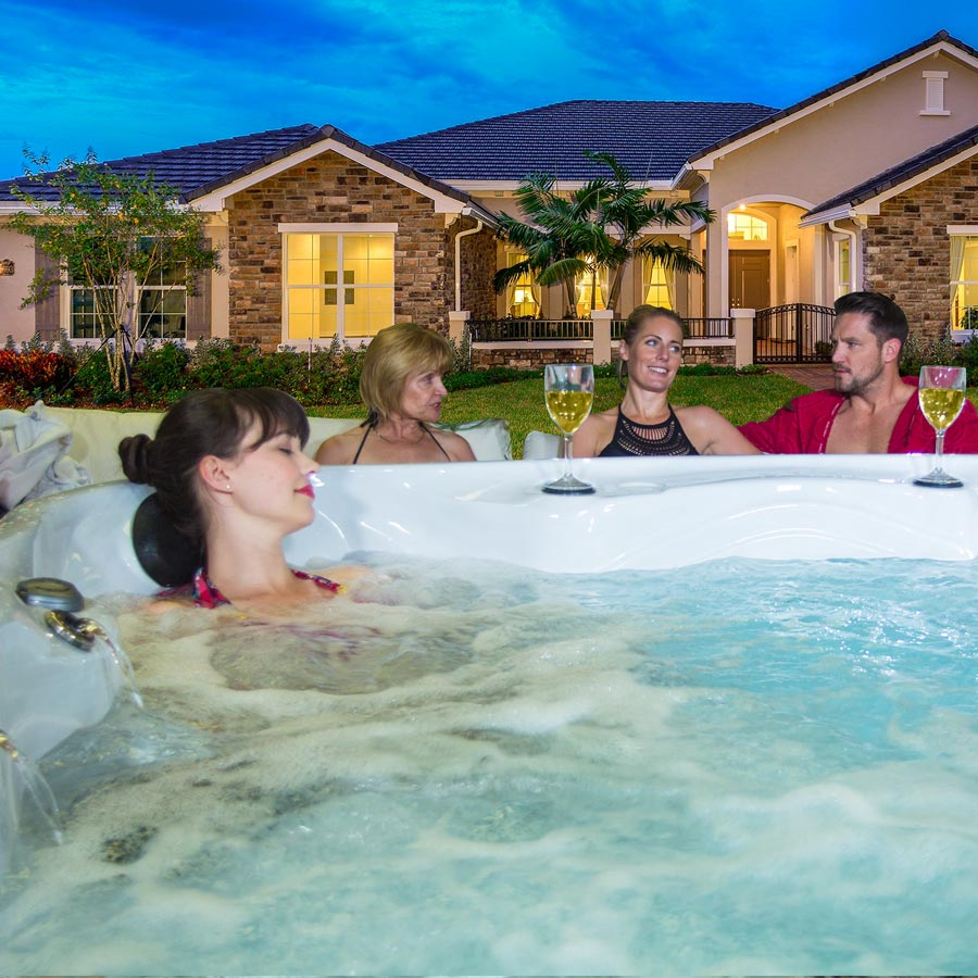 Family Relaxation Time With Clearwater Hot Tub | All American Spa