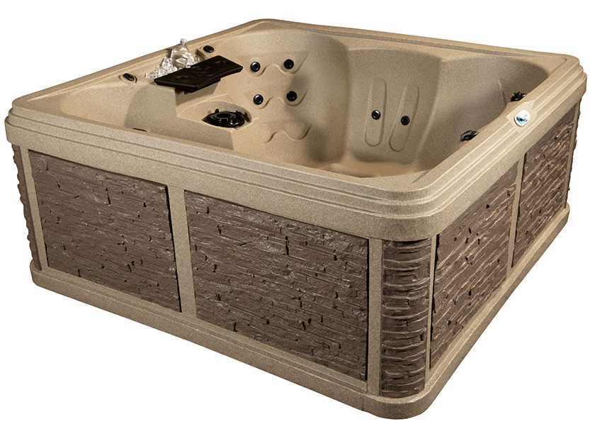 Palm Beach 7 Person Hot Tub Without Lounger Seat | All American Spa