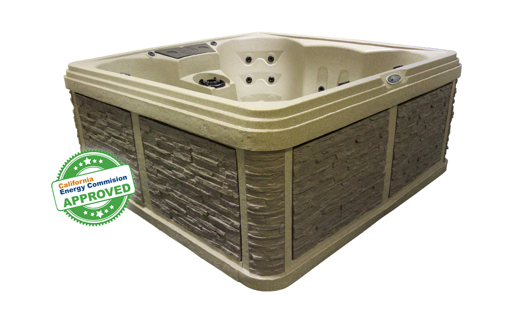 Palm Beach 7 Person Hot Tub Cobblestone Colour | All American Spa