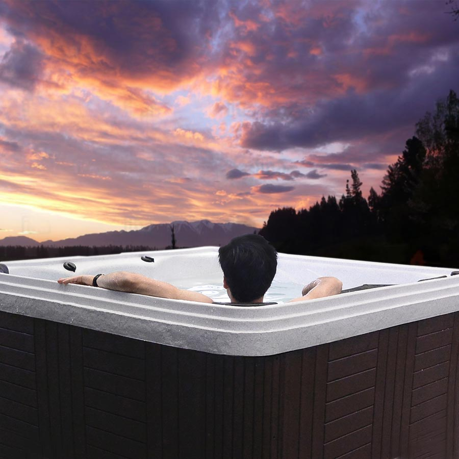 Sunset Bay 5 Person Hot Tub For Your Outdoor Relaxation | All American Spa
