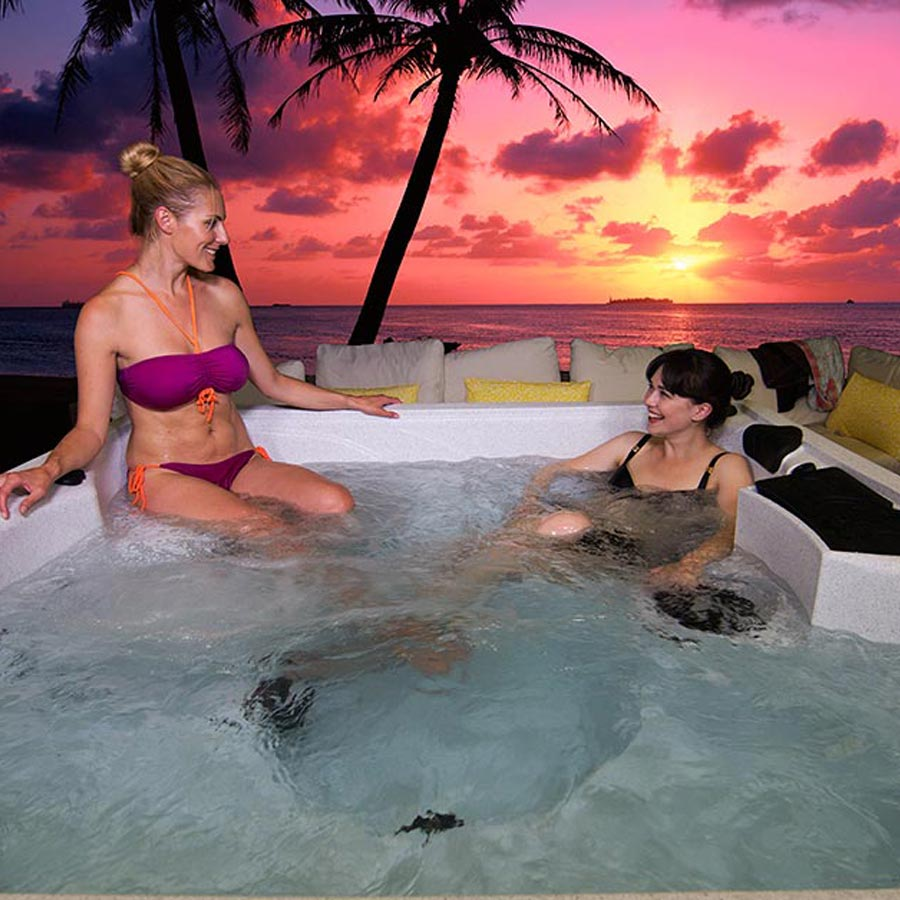 Sunset Bay 5 Person Hot Tub With Child Seat | All American Spa