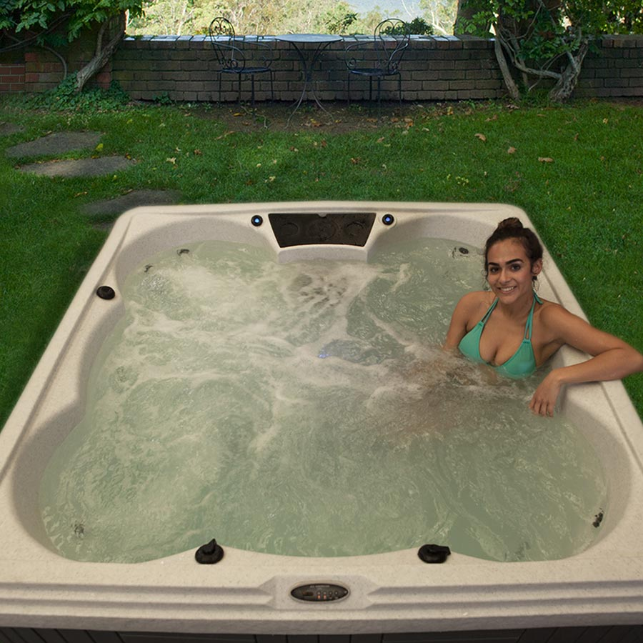 Palm Beach 5 Person Hot Tub With Ice Bucket | All American Spa