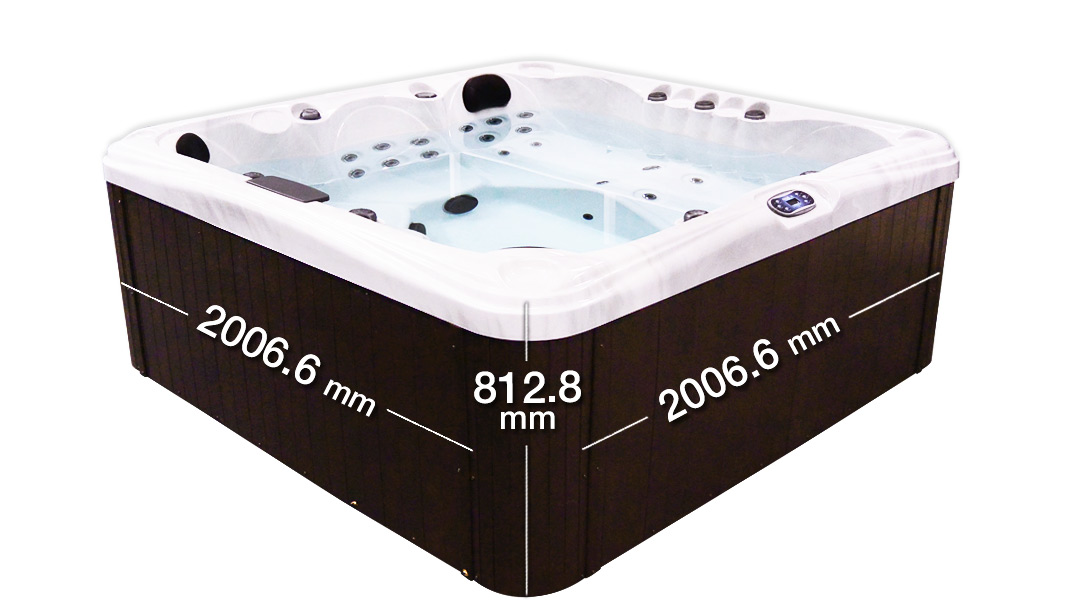 Malibu 3 Hot Tub Dimension | All American Spa