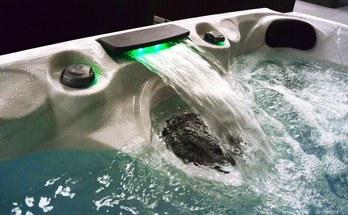Malibu 3 Hot Tub Waterfall Features With LED | All American Spa