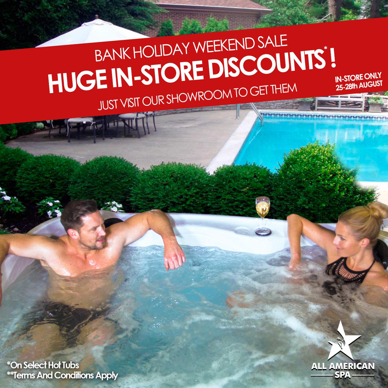 bank holiday weekend showroom hot tub sale