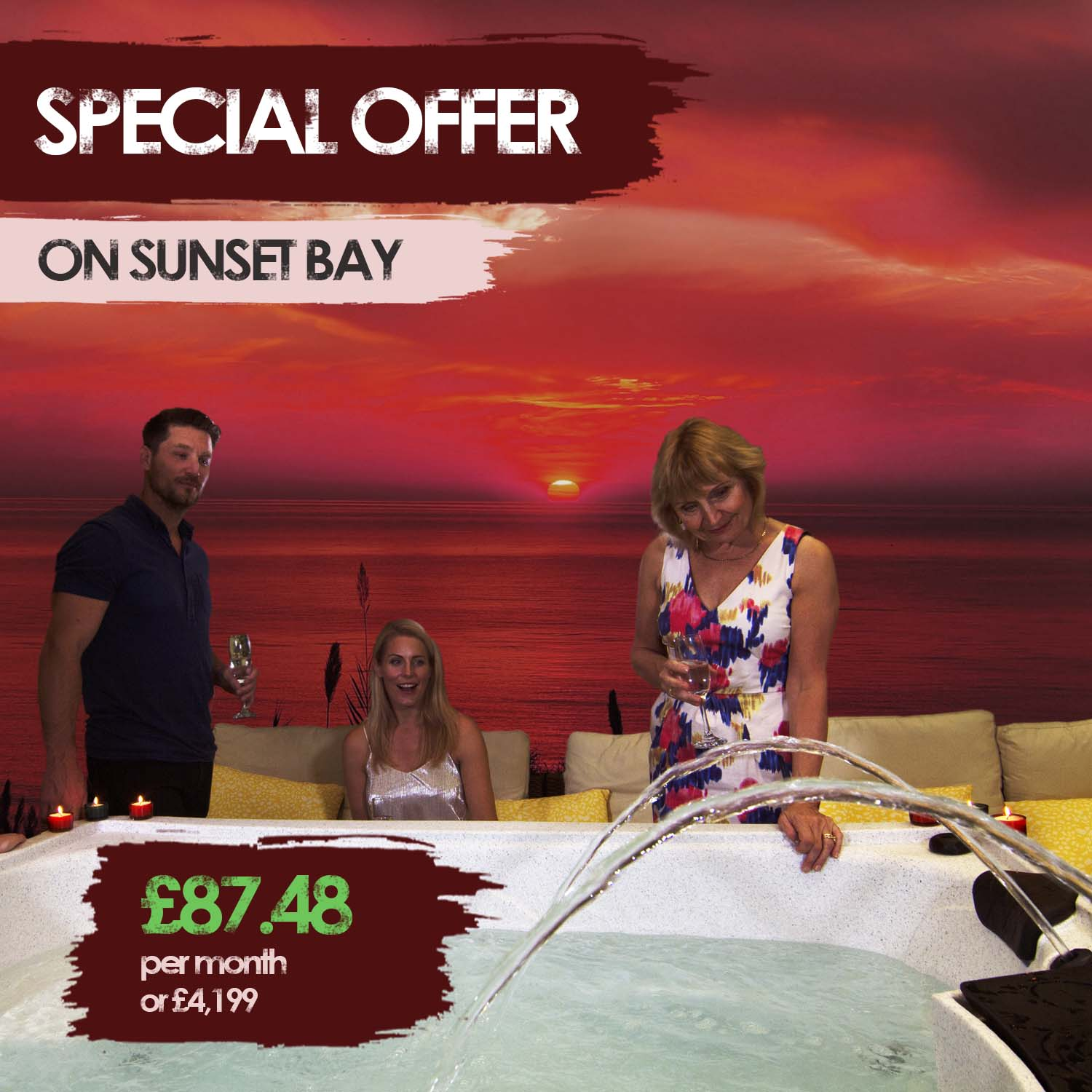 Sunset Bay Hot Tub Special Offer | All American Spa