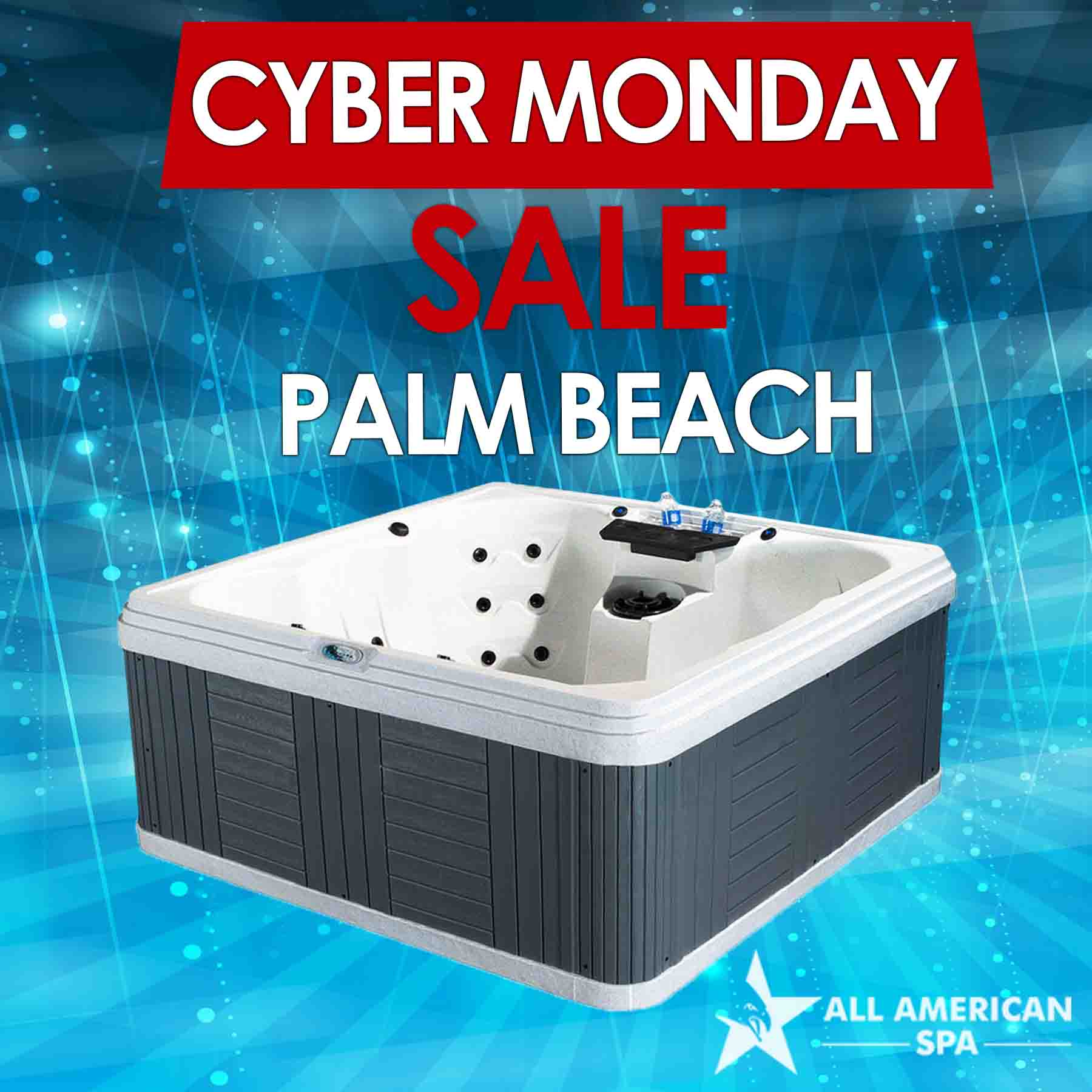 Palm Beach 7 Seater Hot Tub Cyber Monday Sale | All American Spa ...