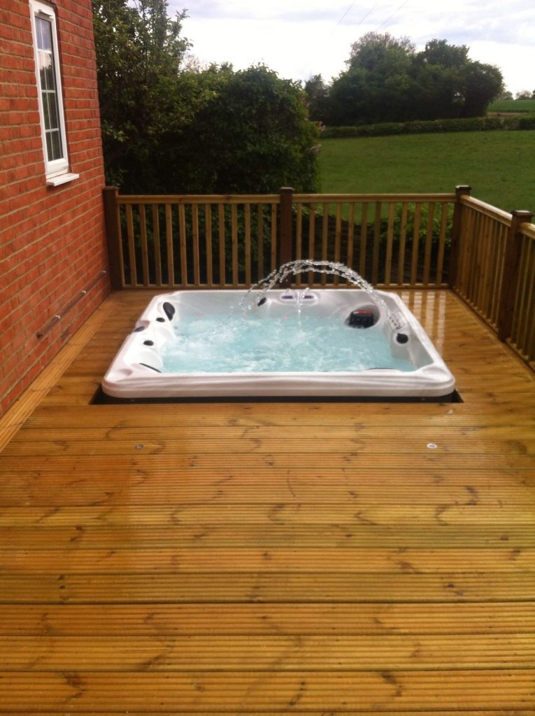 hot tub deck. Decking Hot Tub Deck